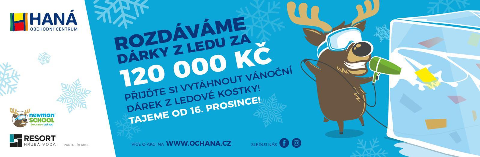 Rozdáváme dárky z ledu za 120 000 Kč!